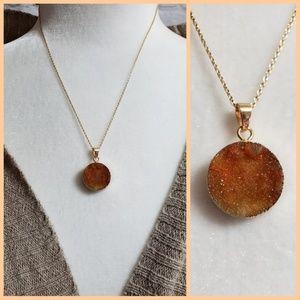 Jewelry - Druzy Stone Gold-toned Necklace NWOT